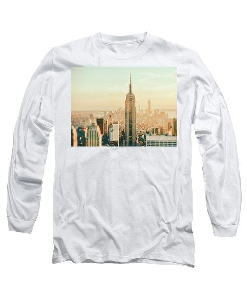New York City - Skyline Dream Long Sleeve T-Shirt by Vivienne Gucwa