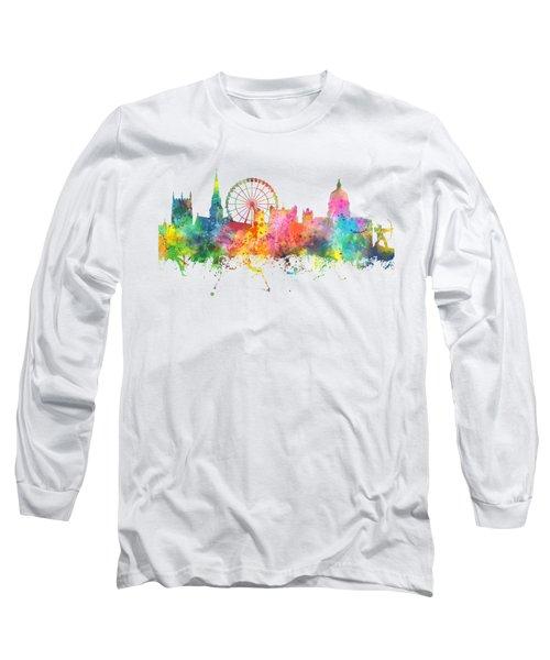 Nottingham  England Skyline Long Sleeve T-Shirt by Marlene Watson