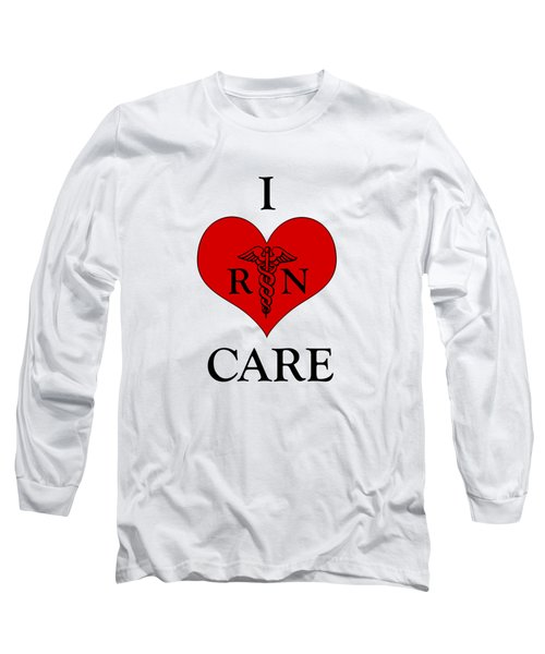 Nursing I Care -  Red Long Sleeve T-Shirt by Mark Kiver