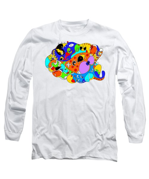 Ocean Life Long Sleeve T-Shirt by Sally Bosenburg