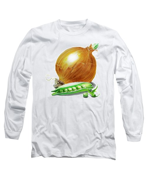 Onion And Peas Long Sleeve T-Shirt by Irina Sztukowski