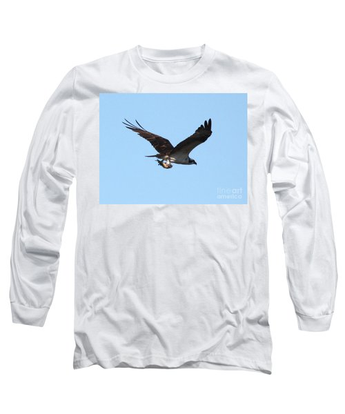 Osprey With Fish Long Sleeve T-Shirt by Carol Groenen