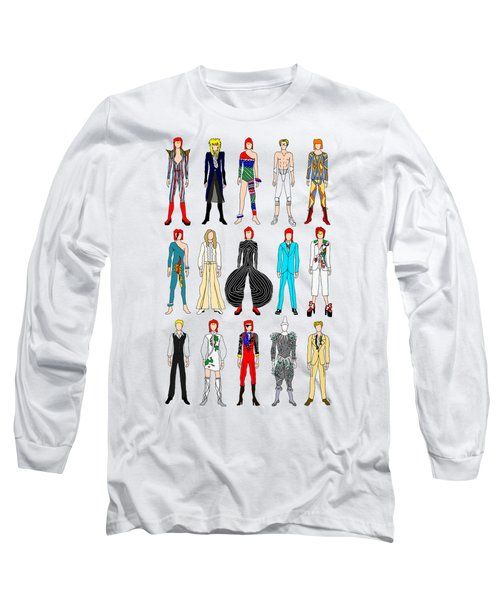 Outfits Of Bowie Long Sleeve T-Shirt by Notsniw Art