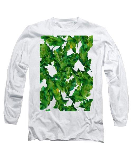 Overlapping Leaves Long Sleeve T-Shirt by Cortney Herron