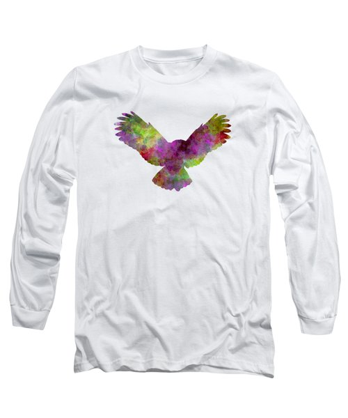 Owl 02 In Watercolor Long Sleeve T-Shirt by Pablo Romero