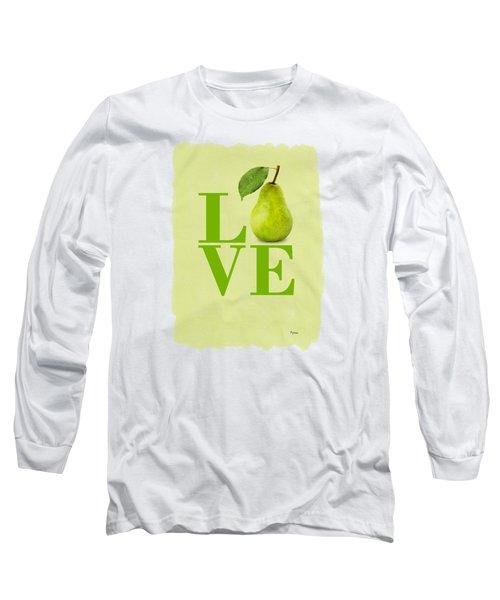 Pear Long Sleeve T-Shirt by Mark Rogan
