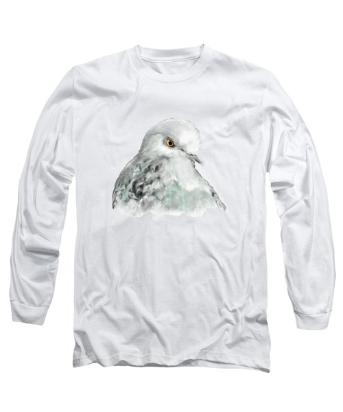 Pigeon Long Sleeve T-Shirt by Bamalam  Photography