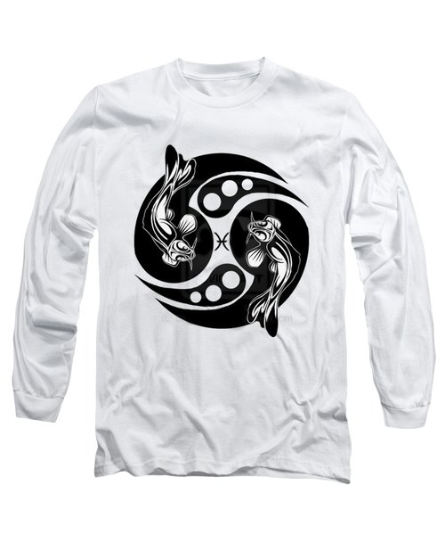 Pisces Koi Long Sleeve T-Shirt by  Fli Art
