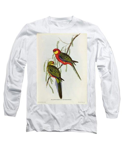 Platycercus Icterotis Long Sleeve T-Shirt by John Gould