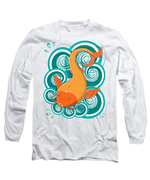 Playing Koi Long Sleeve T-Shirt by Shawna Rowe