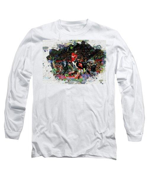 Pogba Street Art Long Sleeve T-Shirt by Don Kuing