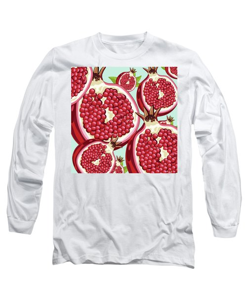 Pomegranate   Long Sleeve T-Shirt by Mark Ashkenazi