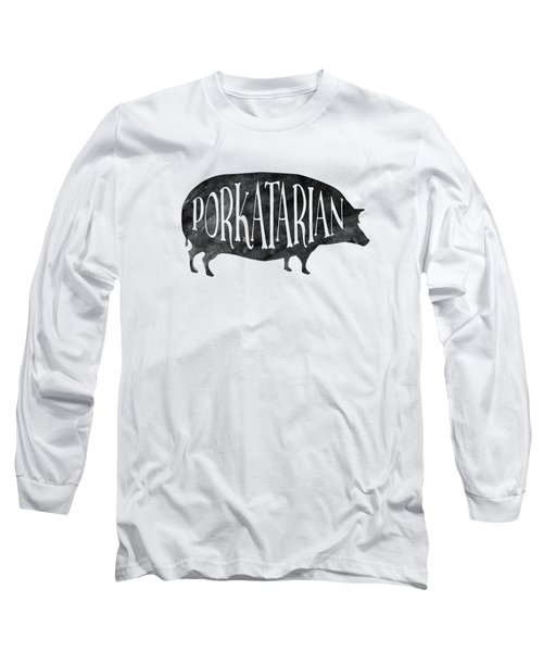 Porkatarian Pig Long Sleeve T-Shirt by Antique Images