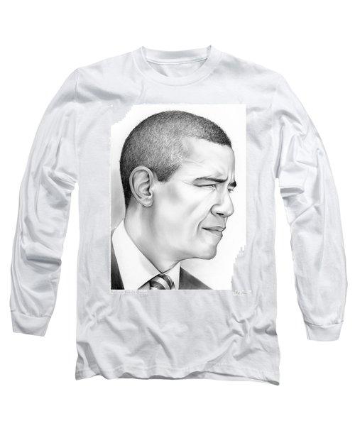 President Obama Long Sleeve T-Shirt by Greg Joens