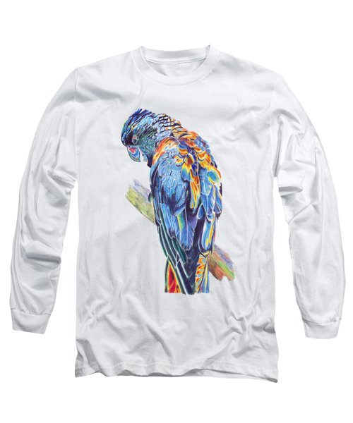 Psychedelic Parrot Long Sleeve T-Shirt by Lorraine Kelly
