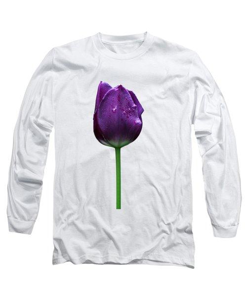 Purple Tulip T Long Sleeve T-Shirt by Ivan Slosar