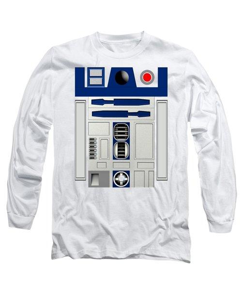 R2d2 Long Sleeve T-Shirt by Janis Marika