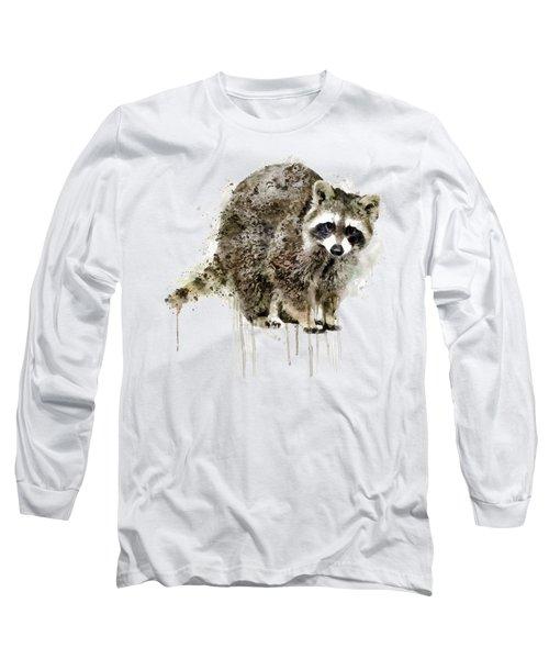 Raccoon Long Sleeve T-Shirt by Marian Voicu