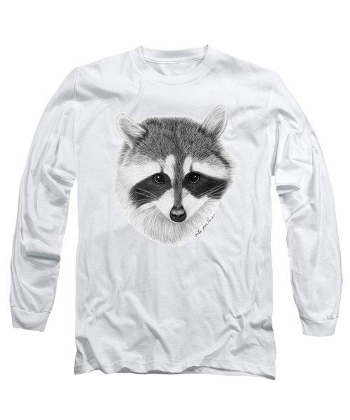 Raccoon Long Sleeve T-Shirt by Rita Palmer