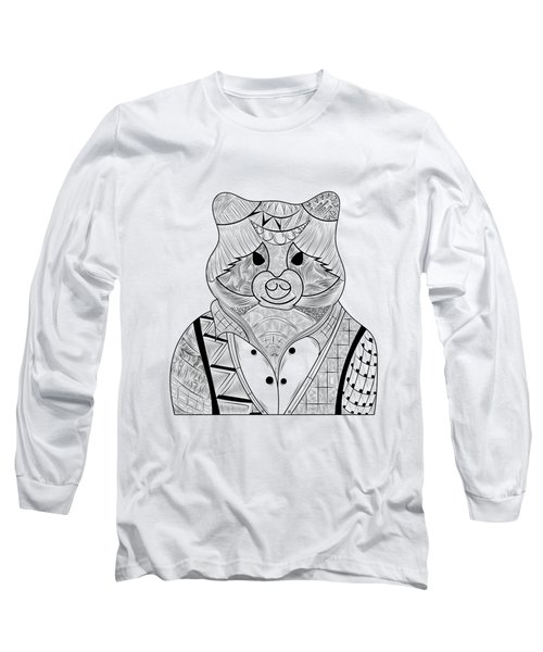 Raccoon Long Sleeve T-Shirt by Serkes Panda