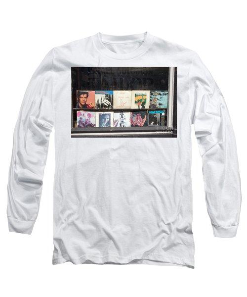Record Store Burlington Vermont Long Sleeve T-Shirt by Edward Fielding