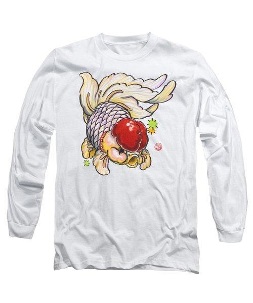 Red Cap Mixed Ranchu Long Sleeve T-Shirt by Shih Chang Yang