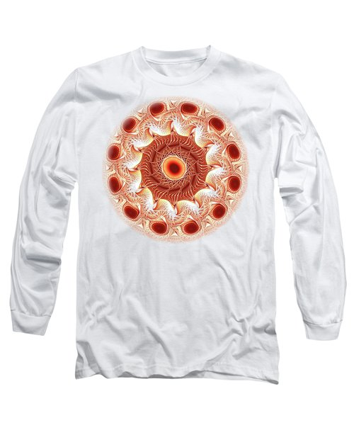 Red Circle Long Sleeve T-Shirt by Anastasiya Malakhova
