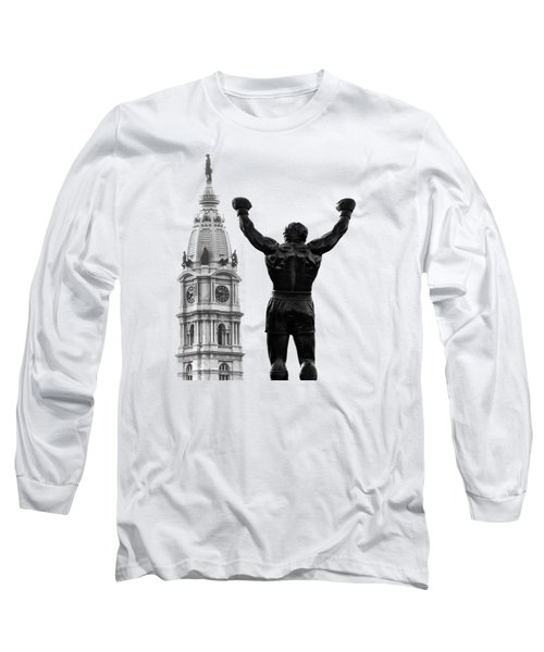 Rocky - Philly's Champ Long Sleeve T-Shirt by Bill Cannon