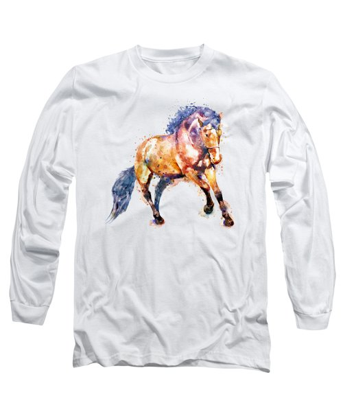Running Horse Long Sleeve T-Shirt by Marian Voicu