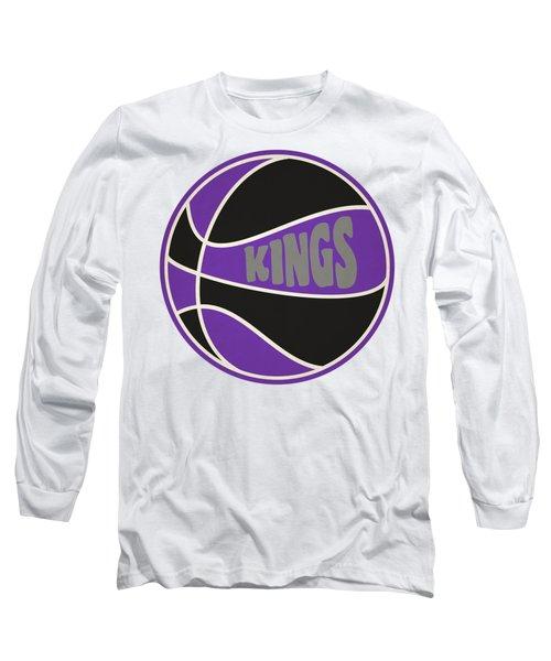 Sacramento Kings Retro Shirt Long Sleeve T-Shirt by Joe Hamilton