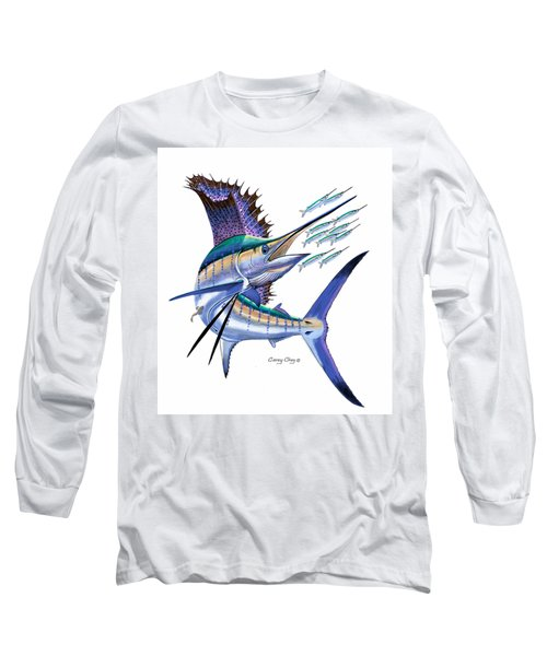 Sailfish Digital Long Sleeve T-Shirt by Carey Chen