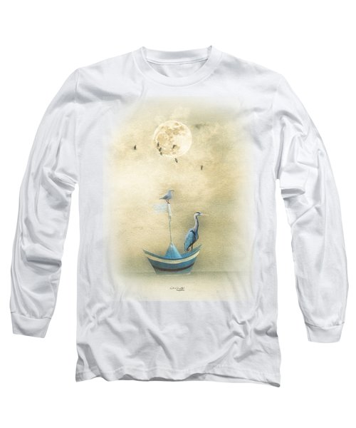 Sailing By The Moon Long Sleeve T-Shirt by Chris Armytage