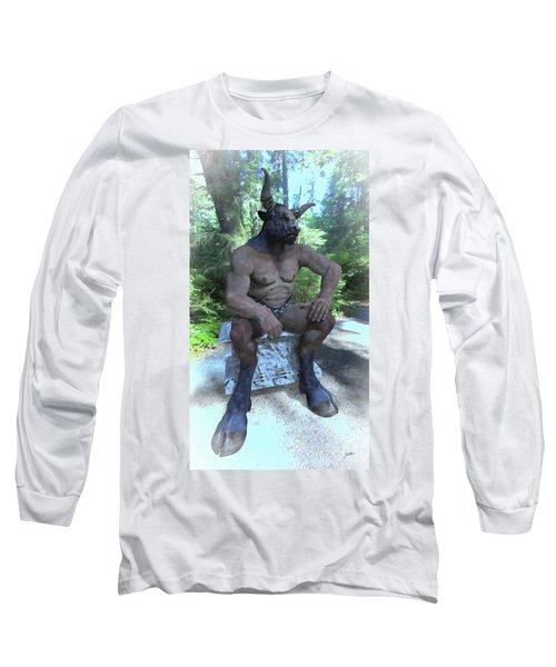 Sitting Bull Long Sleeve T-Shirt by Joaquin Abella