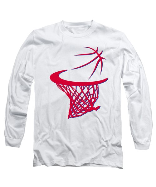 Sixers Basketball Hoop Long Sleeve T-Shirt by Joe Hamilton