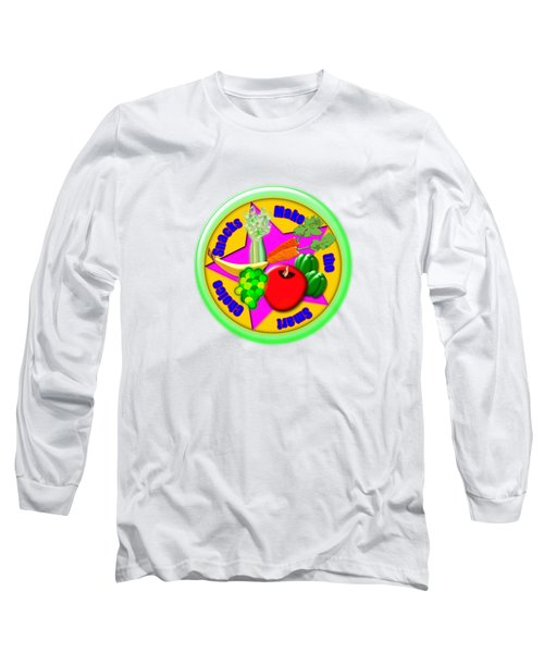 Smart Snacks Long Sleeve T-Shirt by Linda Lindall
