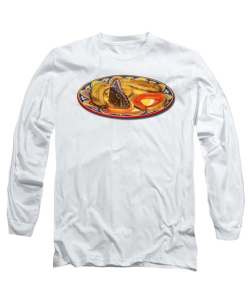 Snacking Butterfly Long Sleeve T-Shirt by Bob Slitzan
