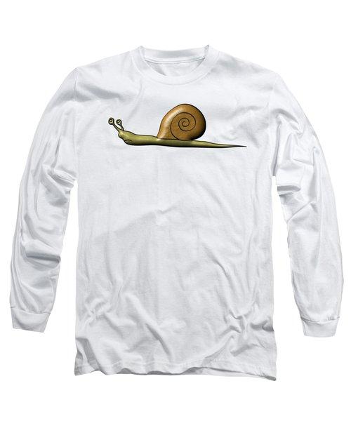 Snail Long Sleeve T-Shirt by Michal Boubin