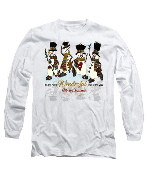 Snow Play Long Sleeve T-Shirt by Tami Dalton