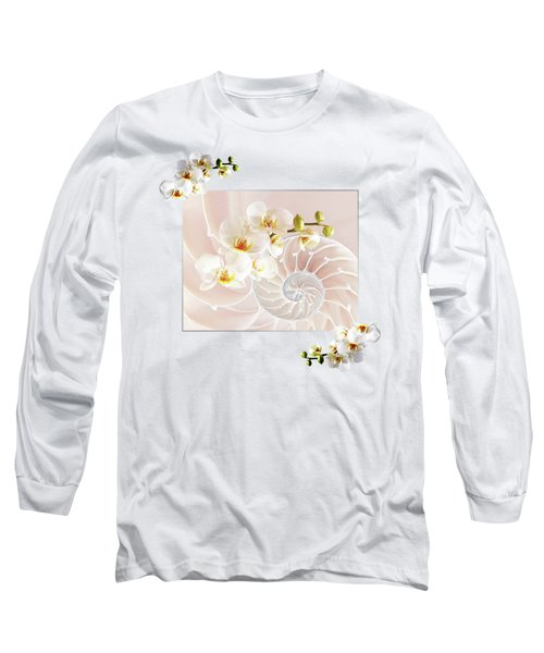 Soft Pink Fusion Long Sleeve T-Shirt by Gill Billington