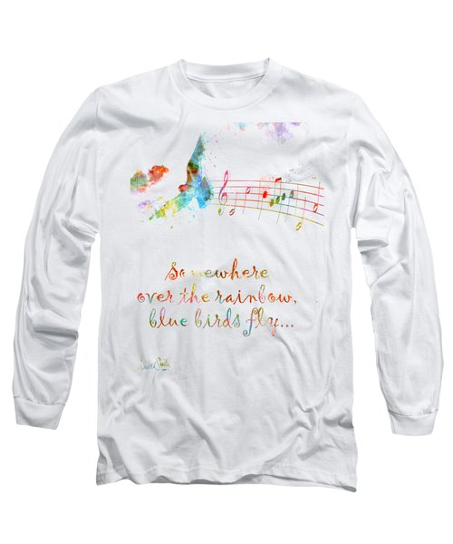 Somewhere Over The Rainbow Long Sleeve T-Shirt by Nikki Smith