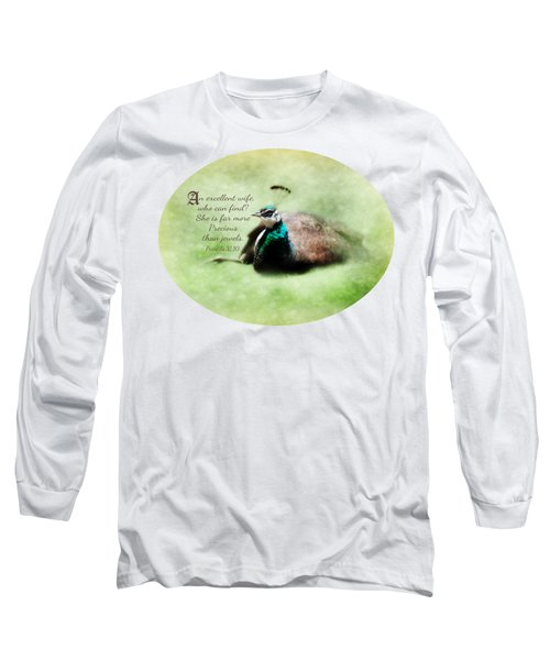 Sophisticated - Verse Long Sleeve T-Shirt by Anita Faye