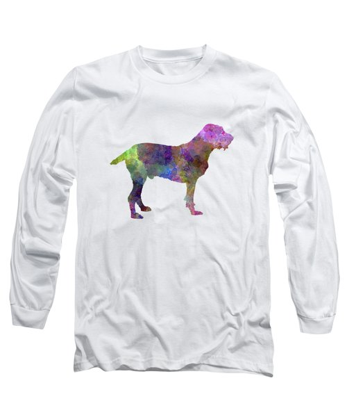 Spinone In Watercolor Long Sleeve T-Shirt by Pablo Romero