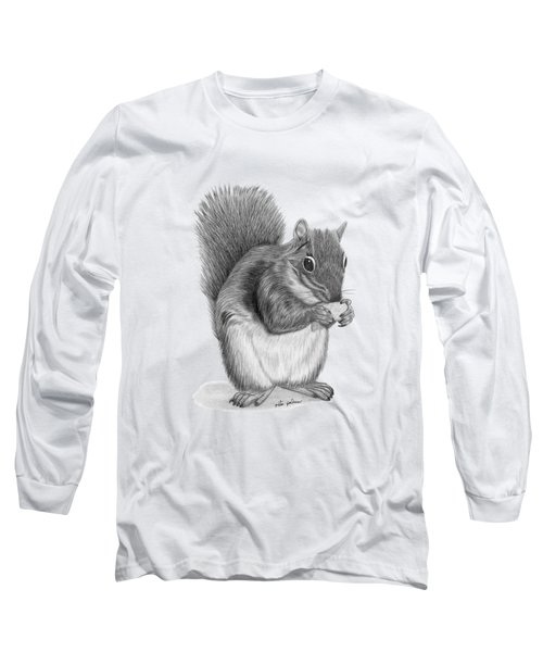 Squirrel #2 Long Sleeve T-Shirt by Rita Palmer