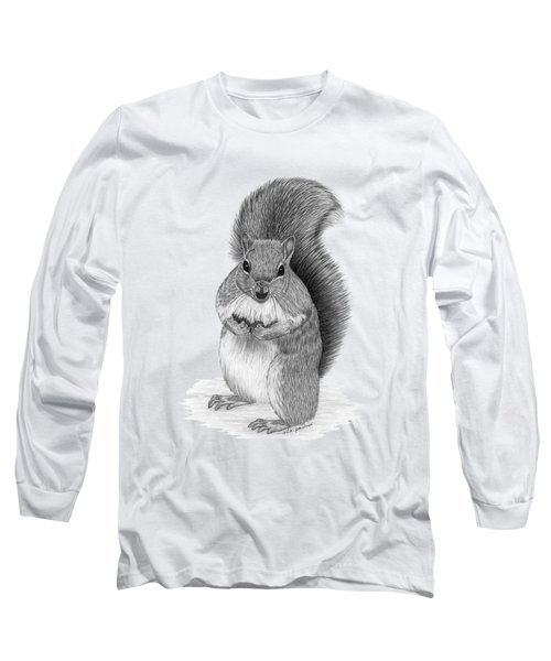 Squirrel Long Sleeve T-Shirt by Rita Palmer