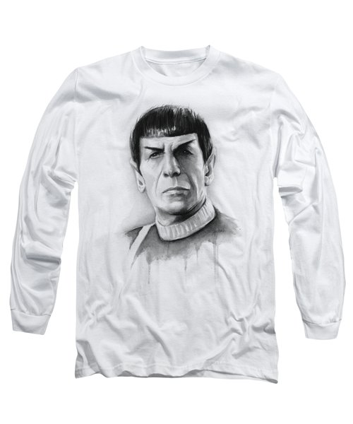 Star Trek Spock Portrait Long Sleeve T-Shirt by Olga Shvartsur