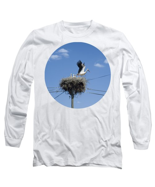 Storks Nest Alentejo Long Sleeve T-Shirt by Mikehoward Photography