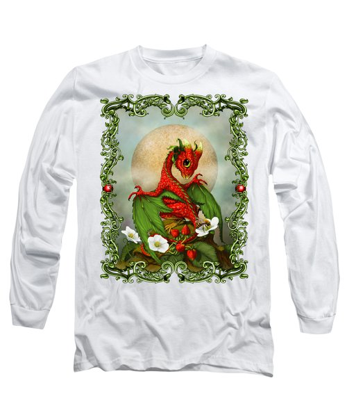 Strawberry Dragon T-shirt Long Sleeve T-Shirt by Stanley Morrison