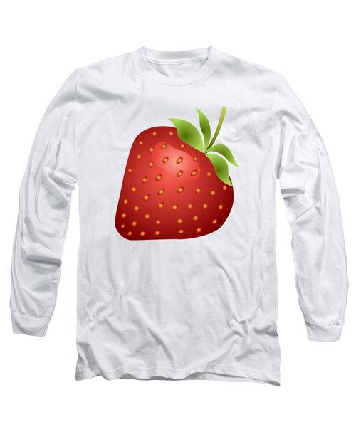 Strawberry Fruit Long Sleeve T-Shirt by Miroslav Nemecek