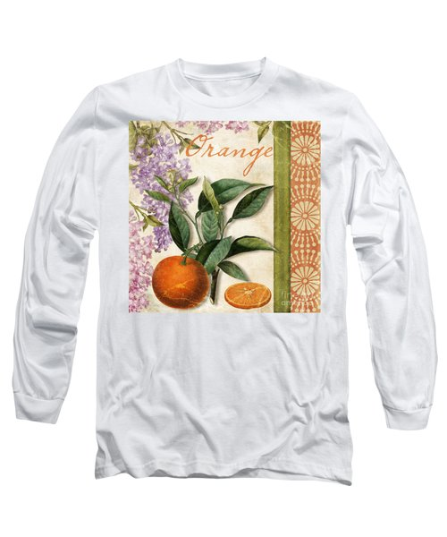 Summer Citrus Orange Long Sleeve T-Shirt by Mindy Sommers