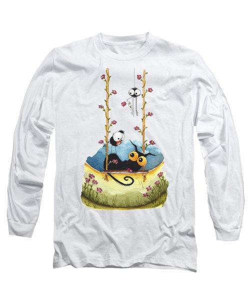 Summer Swing Long Sleeve T-Shirt by Lucia Stewart